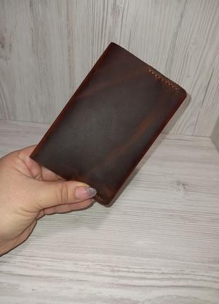 Обложка на паспорт,натуральная кожа,ручная работа