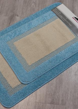 Набор ковриков для ванной и туалета 50х80 и 40х60 Турция 2шт