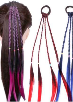 Эластичные резинки для волос с плетеными косичками