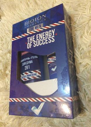 Подарунковий набір для чоловіків біотон bioton гель для душу +...