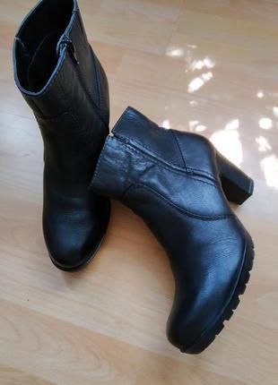41 p. jana  кожаные демисезонные ботинки сапоги