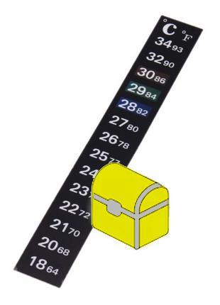 Термометр наружный (наклейка)