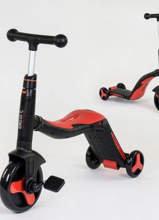 Велосипед Самокат беговел трансформер 3 в 1 Музыка, подсветка