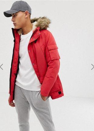 Модельная зимняя мужская куртка Jack and Jones Latte Parka