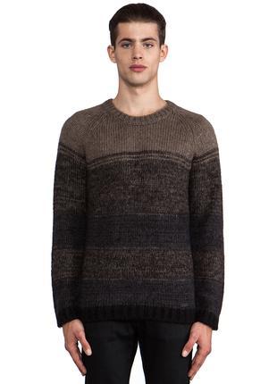 Diesel Италия р.S мужской вязаный свитер 30% мохер джемпер зимний