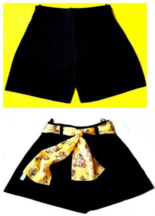 Черные шорты новае завышен посадка💖спорт кэжуал/смотри описание