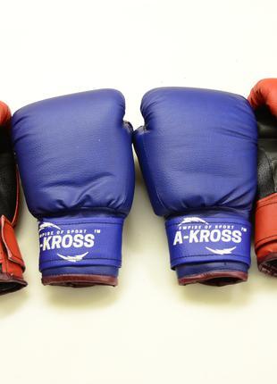 Перчатки боксерские для бокса тренировочные кожзам 6 унций OZ