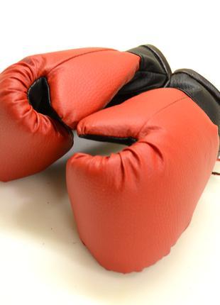 Боксерские перчатки для бокса детские для детей 4 OZ кожзам