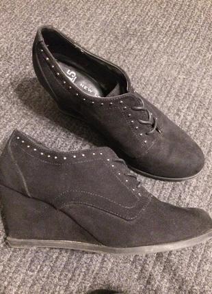 New look 915 generation замшевые ботинки ботильоны на платформ...
