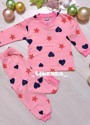 Детская пижама , пижама для девочек , байковая пижама ,тёплая ...