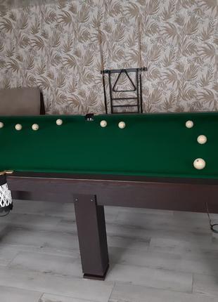 Бильярдный стол Корнет 12 футов, стол для русского бильярда Корне
