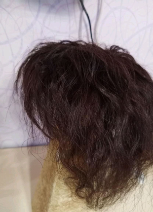 Накладка из натуральных волос. Парик