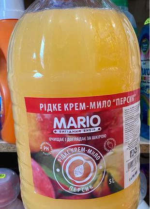 Крем мыло Mario Персик 5 литров