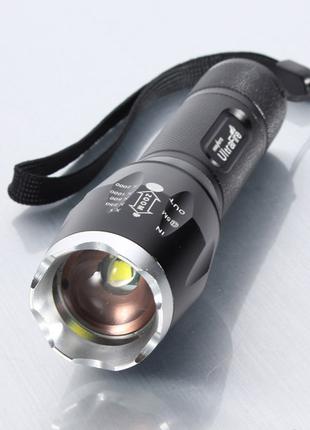 Фонарь светодиодный Ultrafire E17, Cree XM-L T6, 5 реж., фокус.