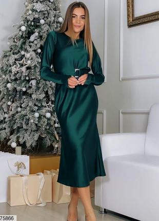 Шёлковое платье на новый год