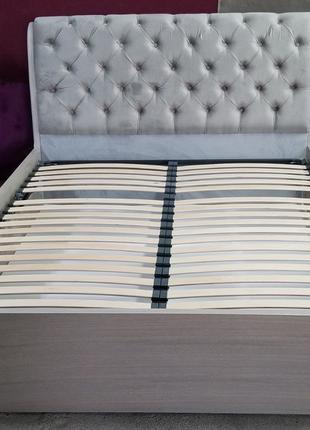 Кровать Тифани с подъемным механизмом из массива ясеня