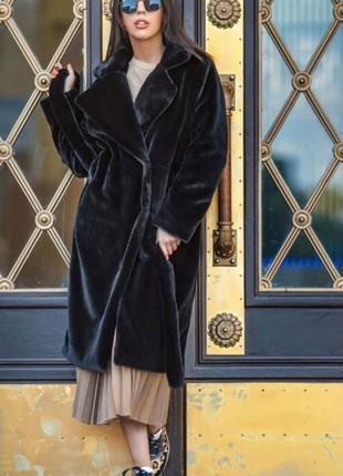 Женская молодежная шуба под мутон стильная