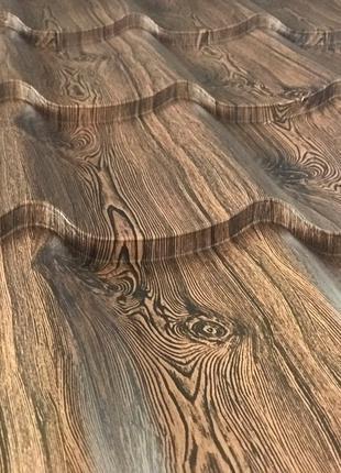 Металлочерепица под дерево от завода, монтеррей рисунок,окрас при