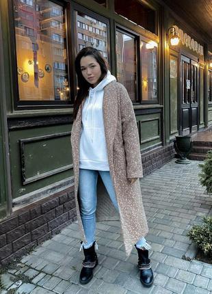 Пальто женское на синтепоне шерсть с кашемиром
