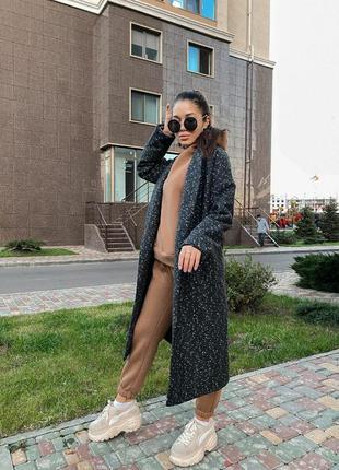 Пальто женское на синтепоне кашемир и шерсть