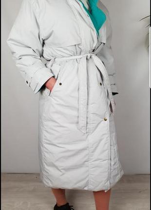 Очень теплый пуховик/пальто/тренч р xs/s/m