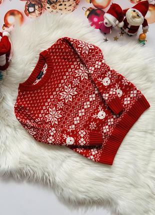 Новогодний свитер next мальчику 3-4 года