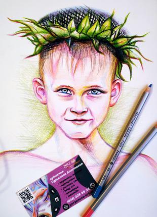 Портрет карандашом по фото. Рисунок
