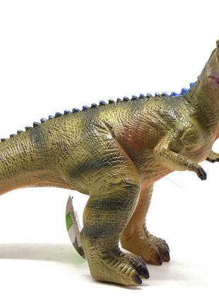Большой музыкальный динозавр Тираннозавр, резиновый