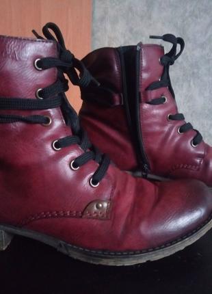 Ботинки сапоги ботиночки сапожки rieker
