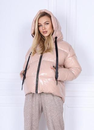 Куртка пуховик женский зима ткань монклер
