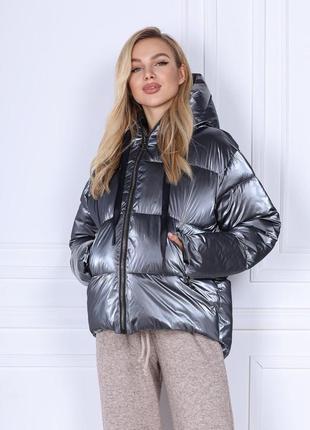 Куртка зимняя женская ткань монклер
