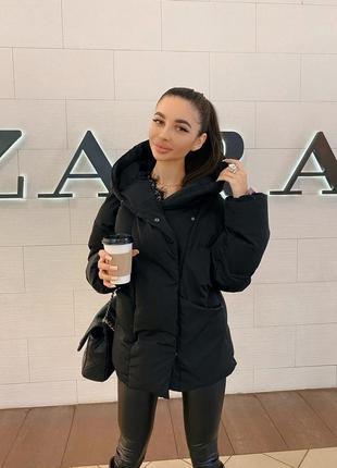 Куртка женская зимняя черная