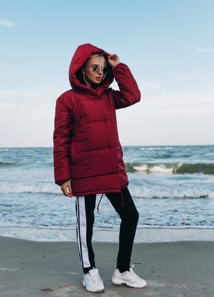 Куртка зефирка женская цвет бордовый