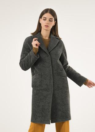 Зимнее пальто season глория альпака малахит утепленное