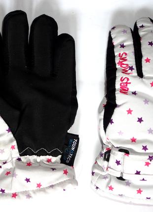 Зимние термо варежки перчатки непромокаемые snow star 6-8 лет