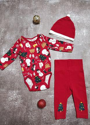 Новогодний костюм для малыша H&M, 2-4m.