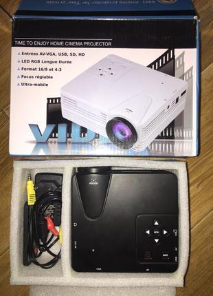 Домашний мощный портативный мини-проектор мультимедийный Led Proj