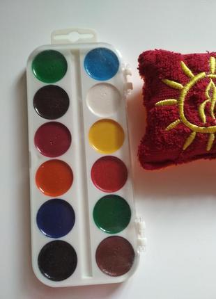 Краски акварельные медовые 12 цветов