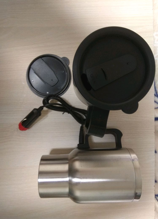 Автомобильная термокружка  от прикуривателя , нержавейка