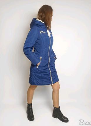 Зимове пальто Snowimage жіноче синій колір куртка зима