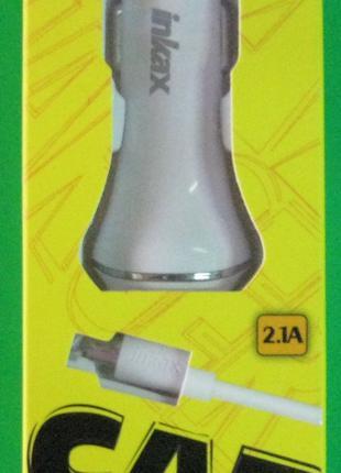 Автомобильное зарядное устройство Inkax CD-12 V8 2 USB 2.1A