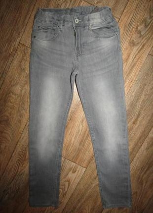 Зауженные джинсы мальчику 10-11 лет стрейч denim