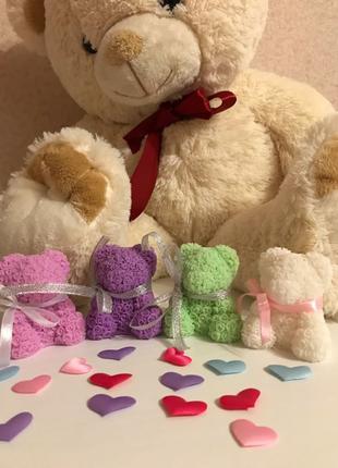 Мишка из роз мыло ручной работы, день Влюблённых подарок, 8 Марта
