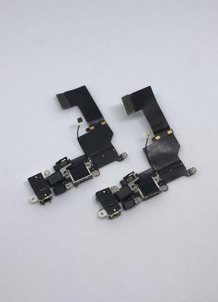 Нижний шлейф зарядки iPhone 5s с разъёмом наушников и микрофоном