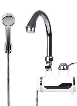 Проточный водонагреватель Delimano c LCD экраном и душем Кран бой