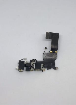 Нижний шлейф зарядки iPhone SE с разъёмом наушников и микрофоном