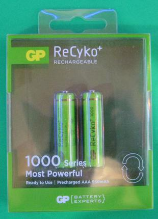 Аккумуляторы GP ReCyko AAA 1000 mAh (мизинец)