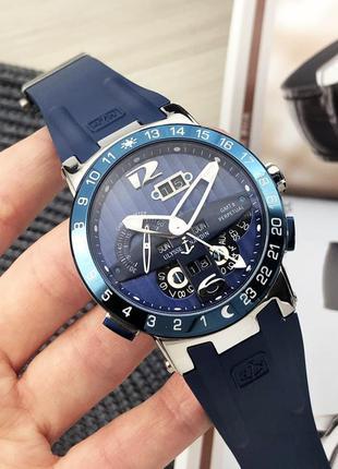 Стильные мужские наручные часы с ремешком из натуральной кожи