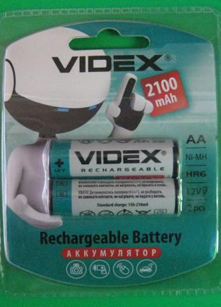 Аккумуляторы Videx AA 2100 mAh (палец)