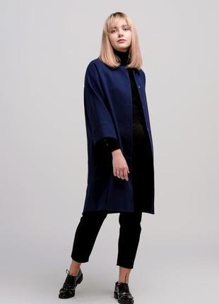 Осеннее женское пальто season синего цвета